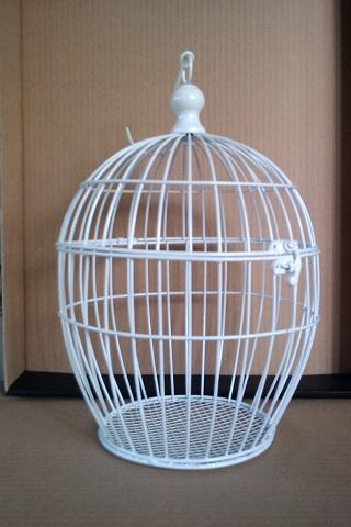 Fehér madárkalitka